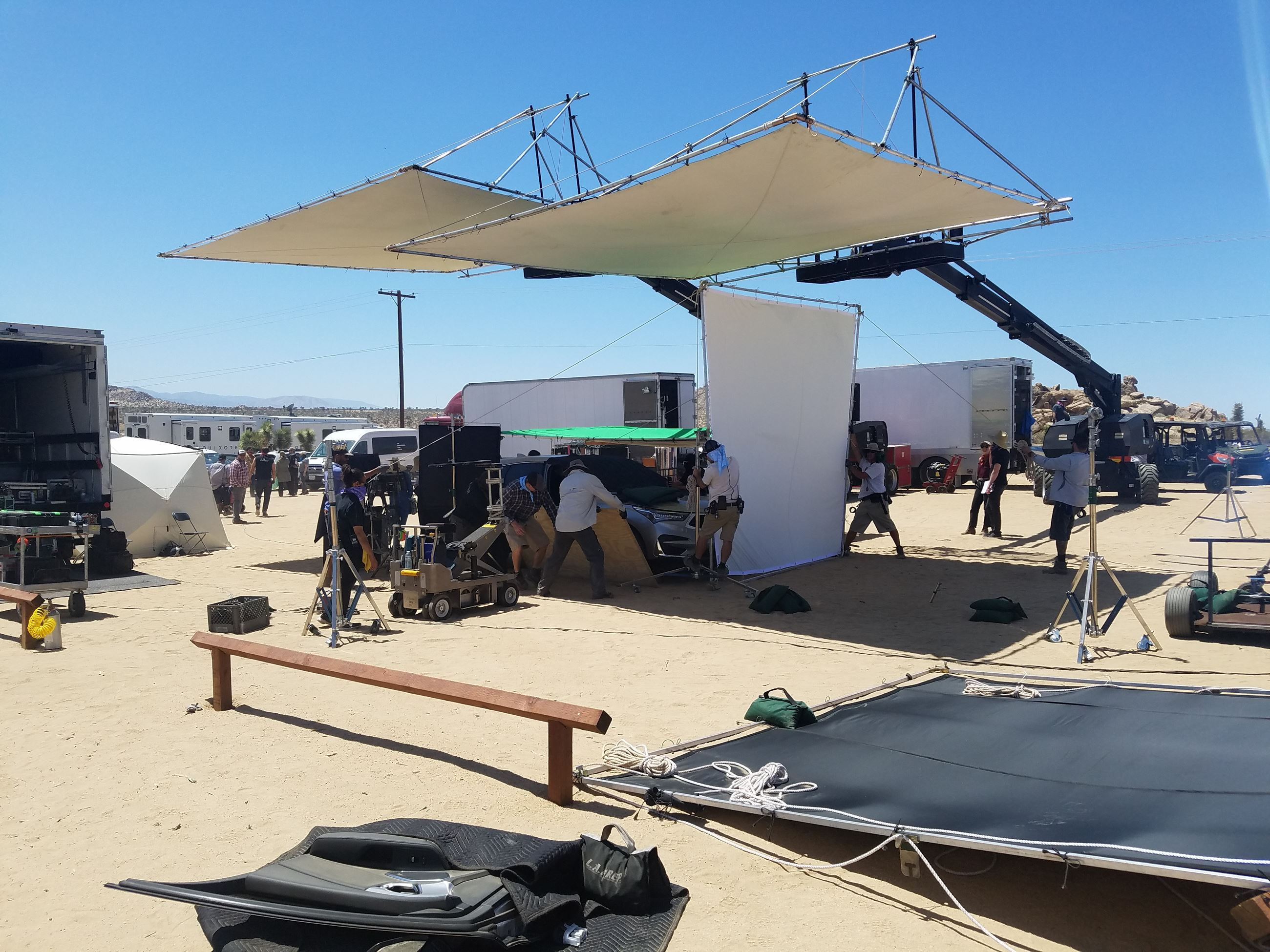 Behind the scenes filming in Palmdale