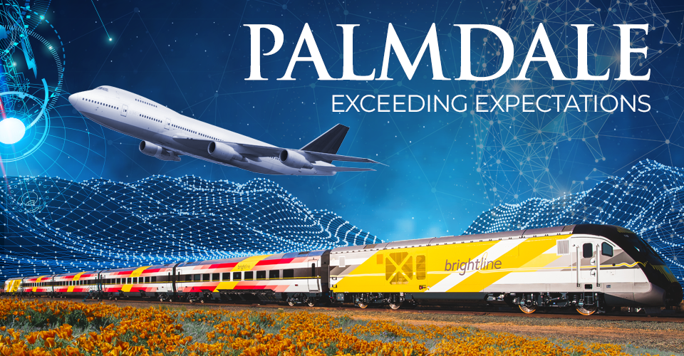 High Speed Rail Banner with Train and Plane