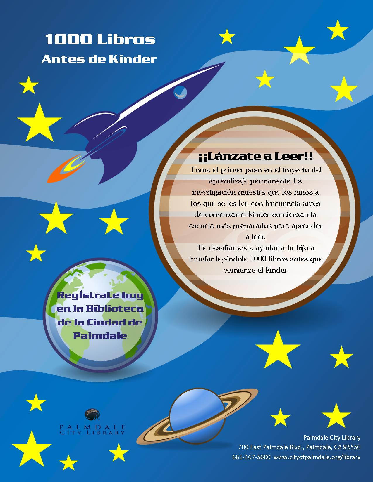 1000 Books Before Kindergarten Flyer- Spanish